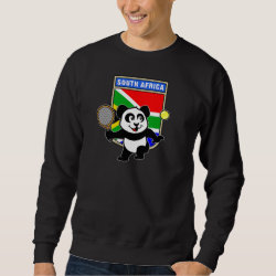 Men's Basic Sweatshirt with South Africa Tennis Panda design