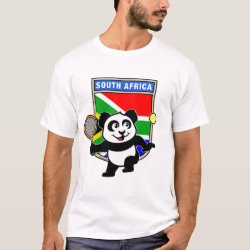 South Africa Tennis Panda Men's Basic T-Shirt