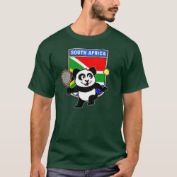 South Africa Tennis Panda Men's Basic Dark T-Shirt