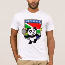 South Africa Tennis Panda Men's Basic American Apparel T-Shirt