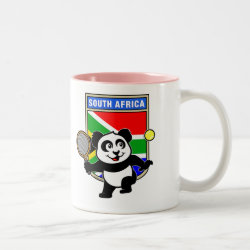 South Africa Tennis Panda Two-Tone Mug