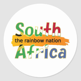 South Africa - the Rainbow Nation Classic Round Sticker