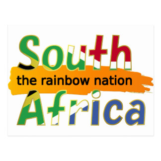 South Africa - the Rainbow Nation Postcard