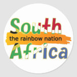 South Africa: the rainbow nation Round Sticker