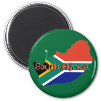 South Africa theme 2 Inch Round Magnet