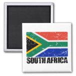 South Africa Vintage Flag 2 Inch Square Magnet