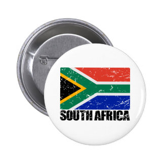 South Africa Vintage Flag 2 Inch Round Button