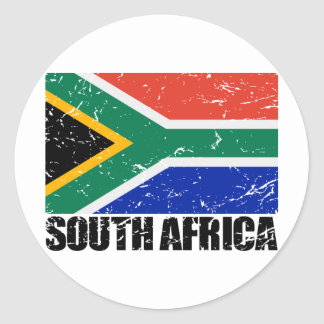 South Africa Vintage Flag Classic Round Sticker