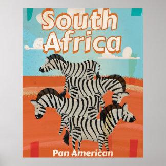 South Africa Vintage Travel Poster