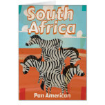 South Africa Vintage Travel Poster Card