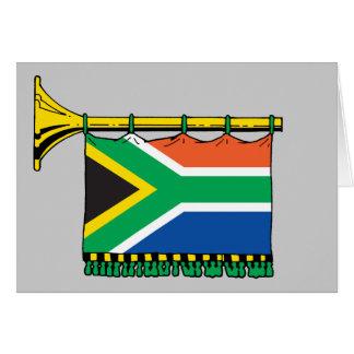 South Africa vuvuzela Greeting Card