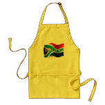 South Africa Waving Flag Adult Apron