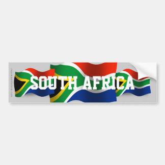 South Africa Waving Flag Bumper Sticker