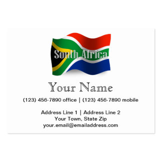 South Africa Waving Flag Business Card Template
