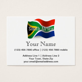 South Africa Waving Flag Business Card