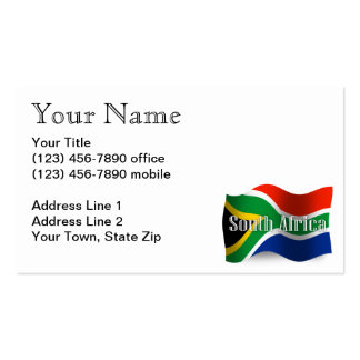 South Africa Waving Flag Business Card Templates