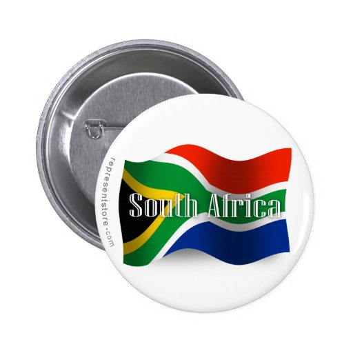 South Africa Waving Flag Button