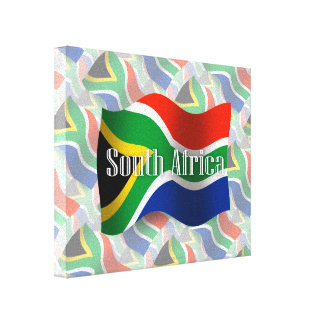 South Africa Waving Flag Canvas Print