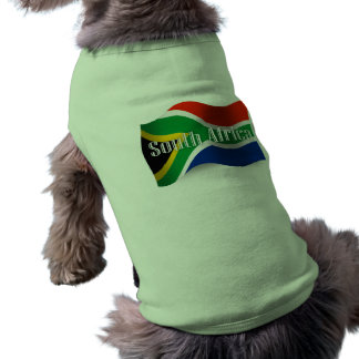 South Africa Waving Flag Doggie Tee