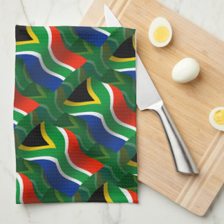 South Africa Waving Flag Hand Towels