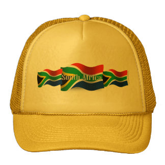 South Africa Waving Flag Trucker Hats