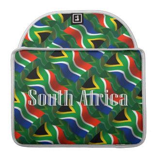 South Africa Waving Flag MacBook Pro Sleeves
