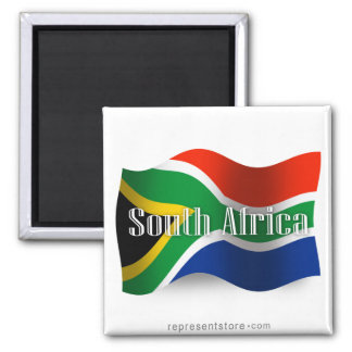 South Africa Waving Flag Magnet