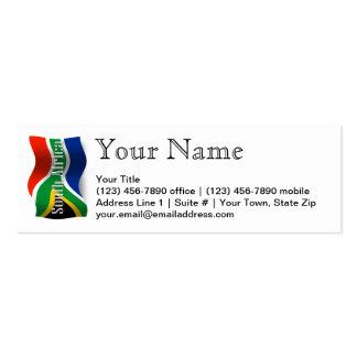 South Africa Waving Flag Mini Business Card