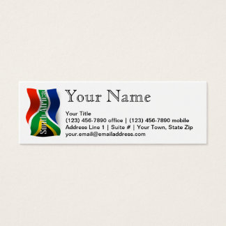 South Africa Waving Flag Mini Business Card