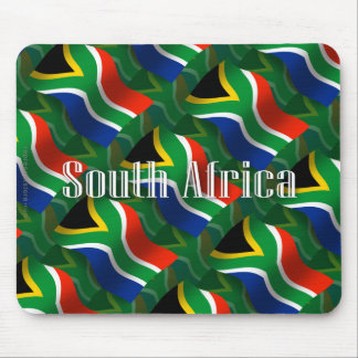 South Africa Waving Flag Mousepad