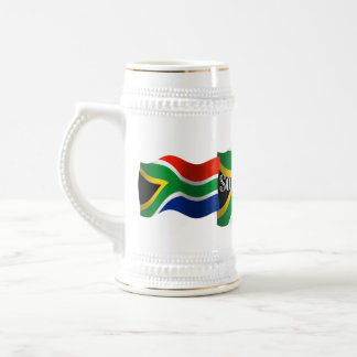 South Africa Waving Flag 18 Oz Beer Stein