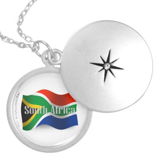 South Africa Waving Flag Pendants