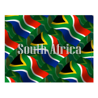 South Africa Waving Flag Postcard