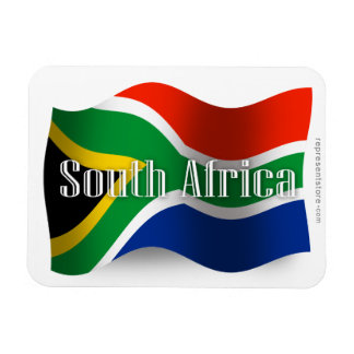 South Africa Waving Flag Rectangular Magnets