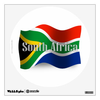 South Africa Waving Flag Wall Decal