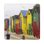 South Africa, Western Cape, St James. Colorful Puzzle Coaster