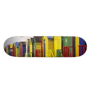 South Africa, Western Cape, St James. Colorful Skateboard