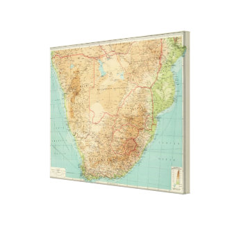 South Africa with shipping routes Canvas Print