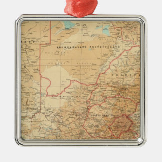 South Africa with shipping routes Metal Ornament
