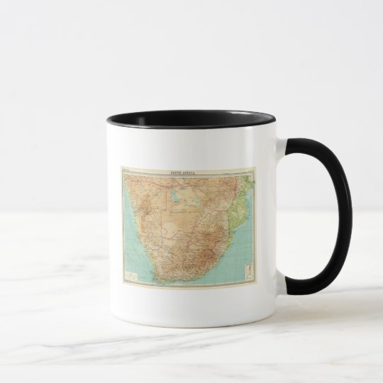 South Africa with shipping routes Mug