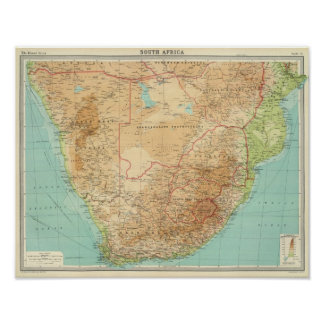South Africa with shipping routes Poster