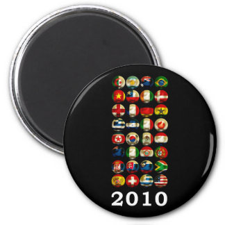 South Africa World 2010 2 Inch Round Magnet