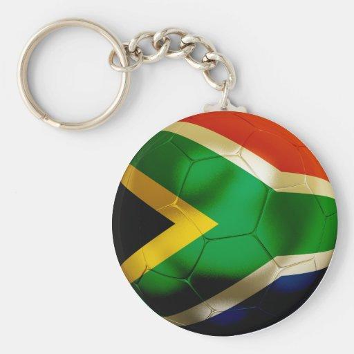 South Africa World Basic Round Button Keychain