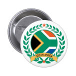 South Africa Wreath Button