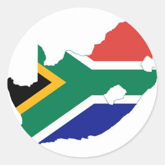 South Africa ZA Classic Round Sticker