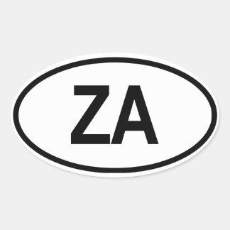 """South Africa """"ZA"""" Oval Sticker"""