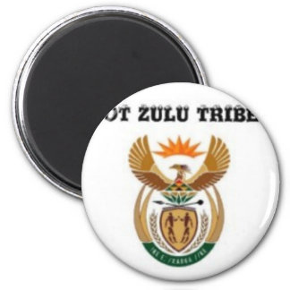 South africa (zulu tribe) 2 inch round magnet