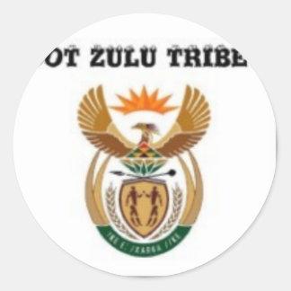 South africa (zulu tribe) classic round sticker