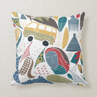 South African / african design / shweshwe Throw Pillow