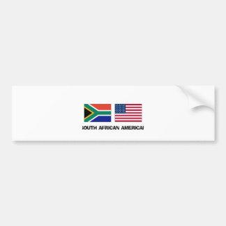 South African American Car Bumper Sticker